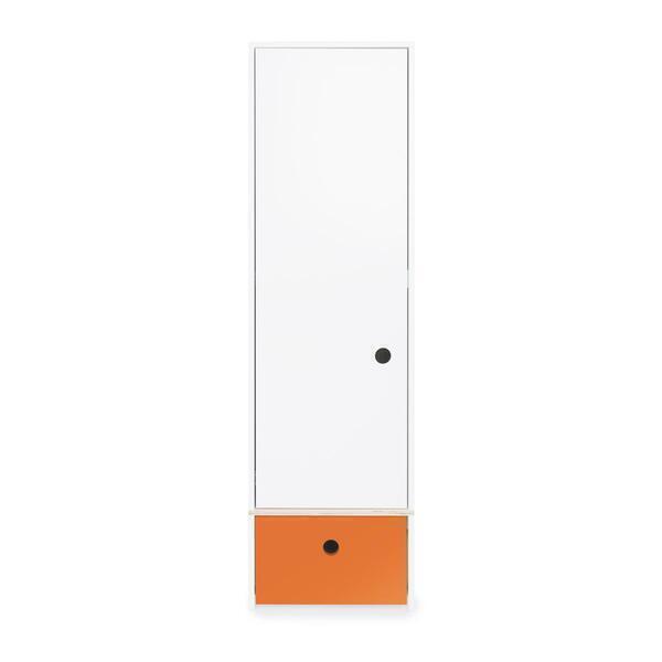 Wookids - Armoire 1 porte COLORFLEX façade tiroir pure orange