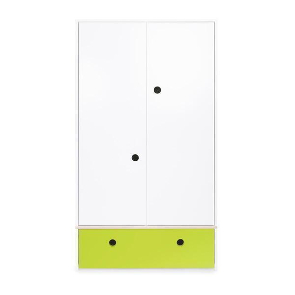 Wookids - Armoire 2 portes COLORFLEX façade tiroir lime