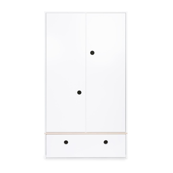 Wookids - Armoire 2 portes COLORFLEX façade tiroir white