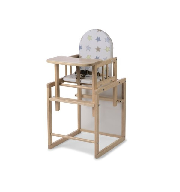 Geuther - Chaise haute combinée Nico naturel