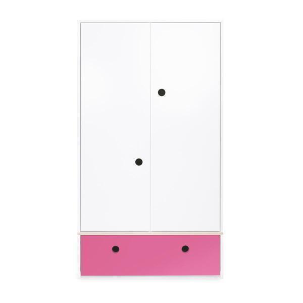 Wookids - Armoire 2 portes COLORFLEX façade tiroir pink