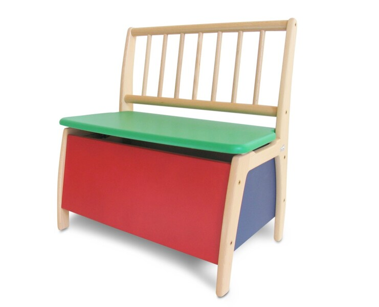 Geuther - Banc coffre à jouets Bambino multicolore 58x35.8x60 cm