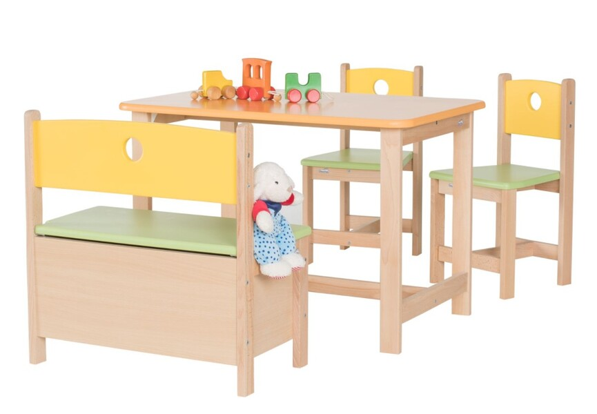 Geuther - Ensemble table et chaise Pepino bois