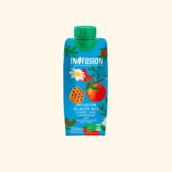 Infusion - Infusion Glacée Pomme Miel Camomille Bio - 33cl