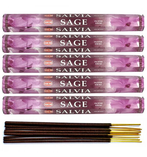 HEM - Encens parfum Sauge Lot de 100 bâtons marque HEM