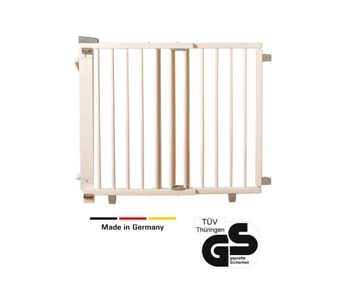 Geuther - Barrière d'escalier pivotante en bois 67-107 cm blanc