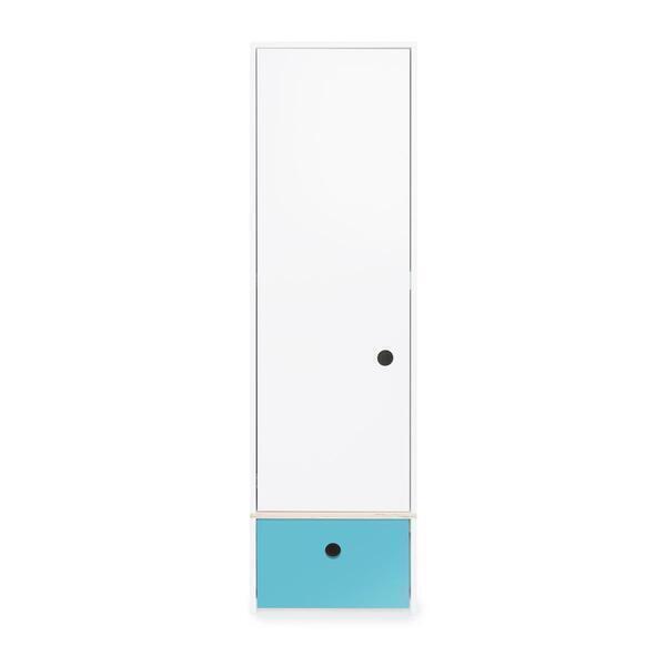 Wookids - Armoire 1 porte COLORFLEX façade tiroir paradise blue