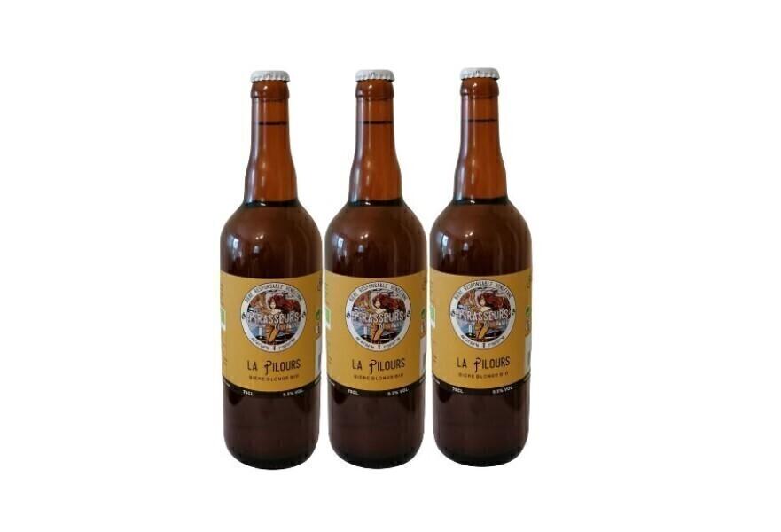 Vinaccus - bière blonde bio la pilours - 3 bouteilles de 75cl