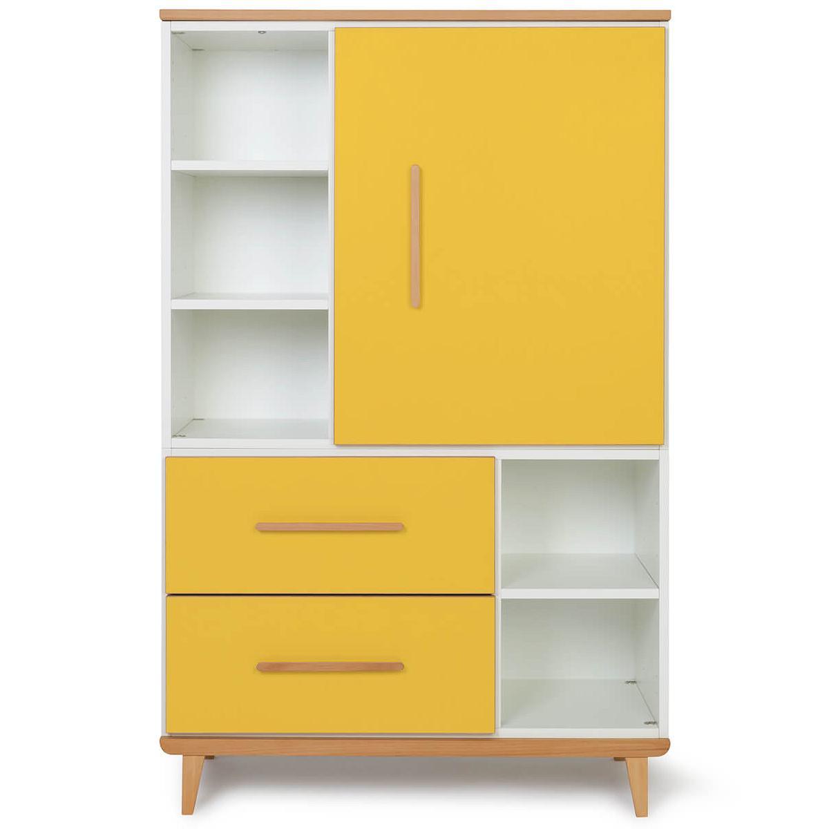 Wookids - Armoire 147cm 1 porte NADO yellow