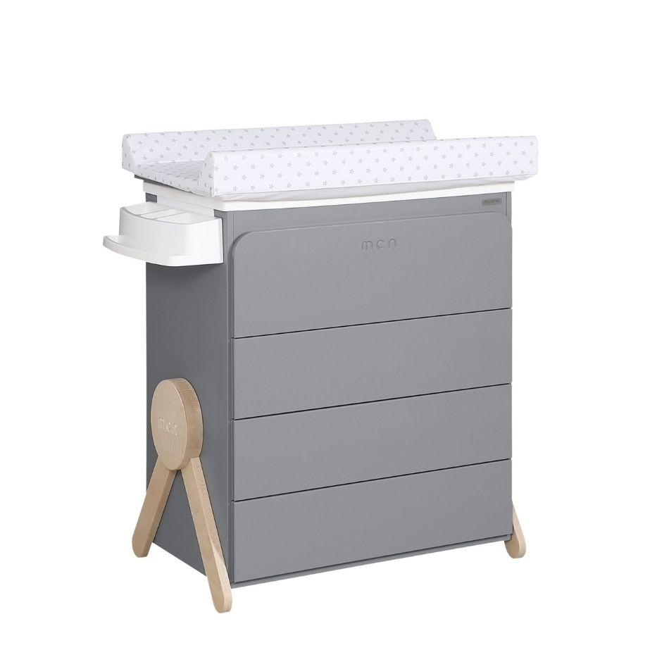 Micuna - Meuble à langer avec baignoire Swing 100.9x76.3x49 cm gris