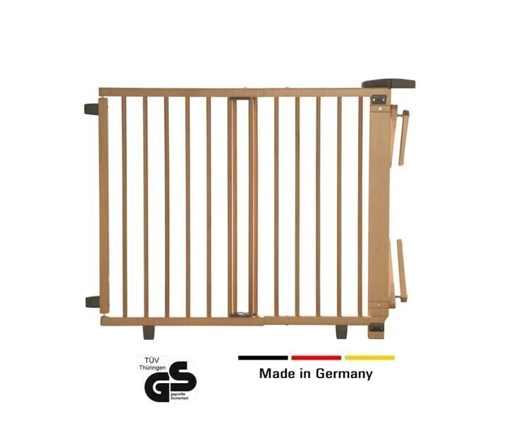 Geuther - Barrière d'escalier pivotante en bois 67-107 cm