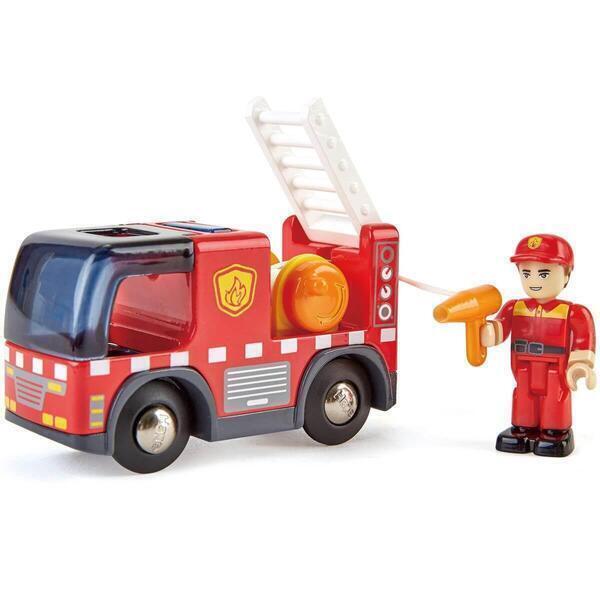 Hape - Camion de pompiers sirène FIRE TRUCK