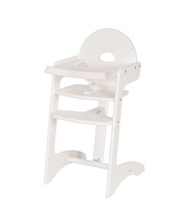 Geuther - Chaise haute Filou blanche 49.4x45x91.1 cm.