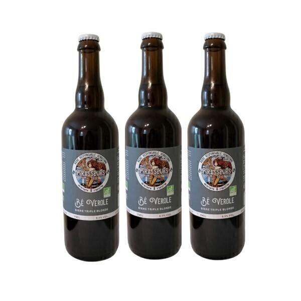 Vinaccus - Bière triple blonde Bé Verole - 3 bouteilles de 75cl
