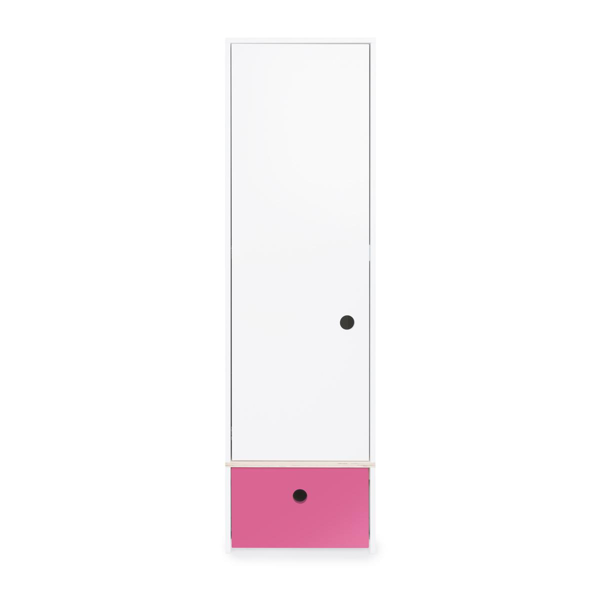 Wookids - Armoire 1 p COLORFLEX pink