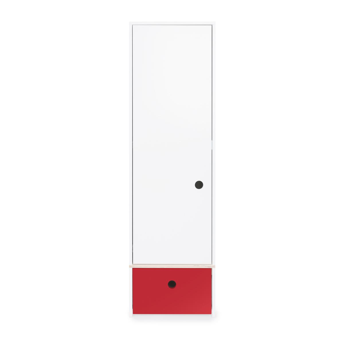 Wookids - Armoire 1 p COLORFLEX t red
