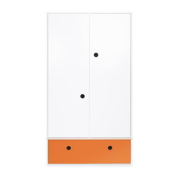Wookids - Armoire 2 portes COLORFLEX façade tiroir pure orange
