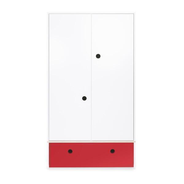 Wookids - Armoire 2 portes COLORFLEX façade tiroir true red