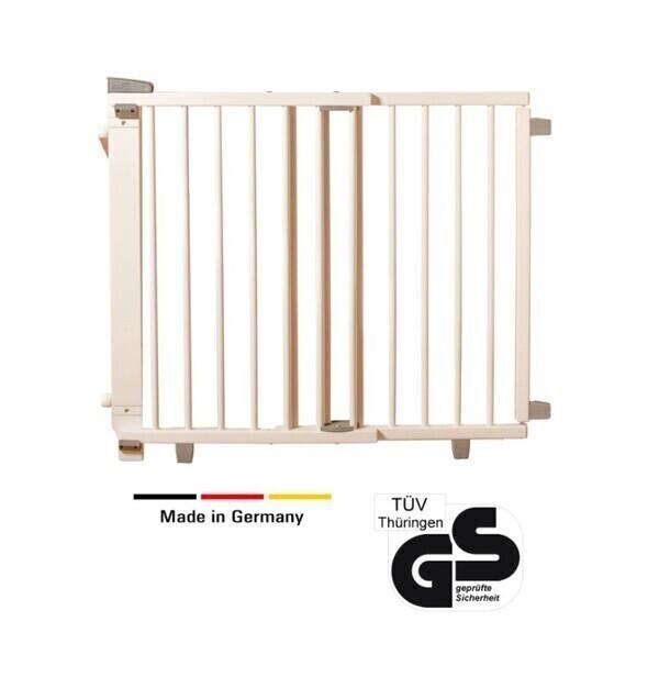 Geuther - Barrière d'escalier pivotante en bois 95 cm - 135 cm blanc