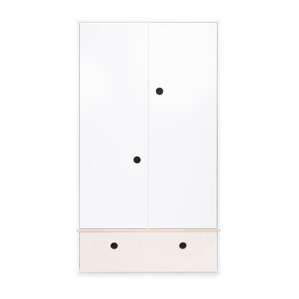 Wookids - Armoire 2 portes COLORFLEX façade tiroir white wash