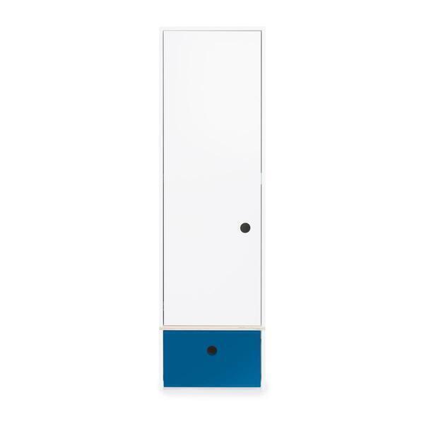 Wookids - Armoire 1 porte COLORFLEX façade tiroir deep marine