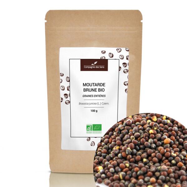 Compagnie des Sens - Graines de Moutarde brune BIO - Graines entières - 100g