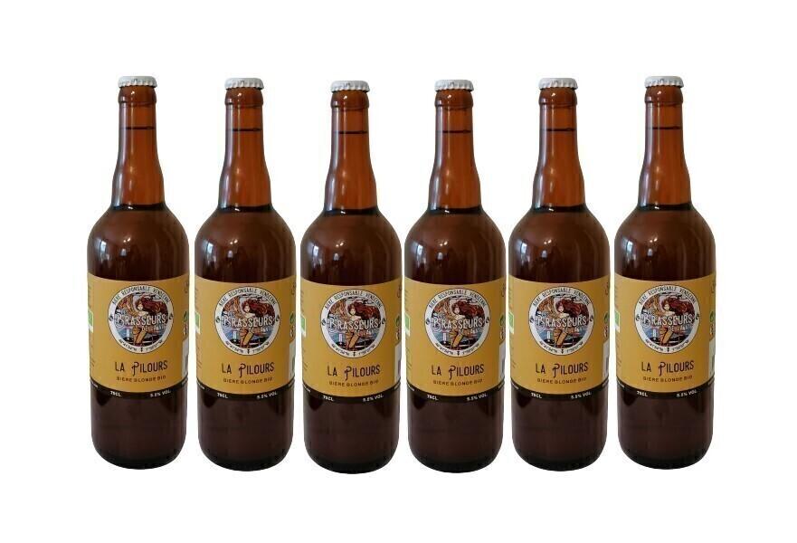 Vinaccus - Bière blonde BIO - La pilours - 6 bouteilles de 75cl