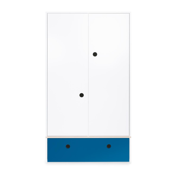 Wookids - Armoire 2 portes COLORFLEX façade tiroir deep marine
