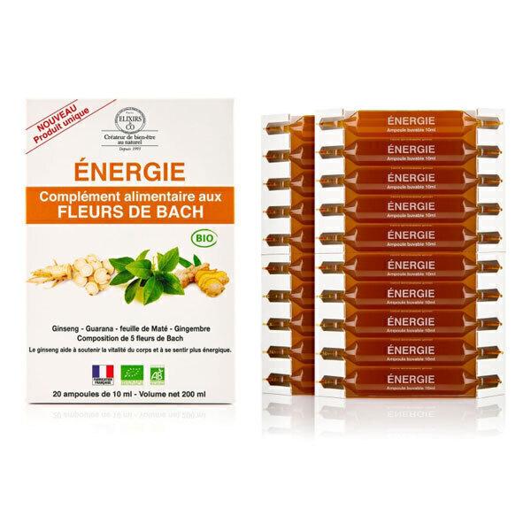 Elixirs & Co - Ampoules aux fleurs de Bach Energie 20x10ml