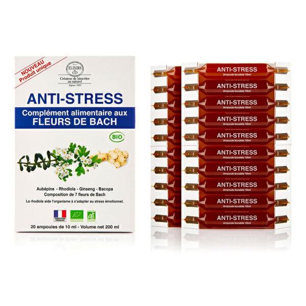 Elixirs & Co - Ampoules aux fleurs de Bach Stress 20x10ml