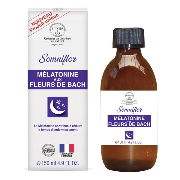 Elixirs & Co - Sirop mélatonine aux fleurs de Bach 150ml
