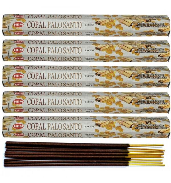 HEM - Encens parfum Copal / Palo Santo Lot de 100 bâtons marque HEM