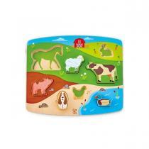 Hape - Puzzle-jeu FARM ANIMAL Hape