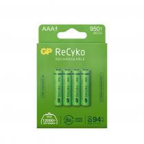 GP Batteries - Pack de 4 piles rechargeable Recyko+ AAA 950mAh