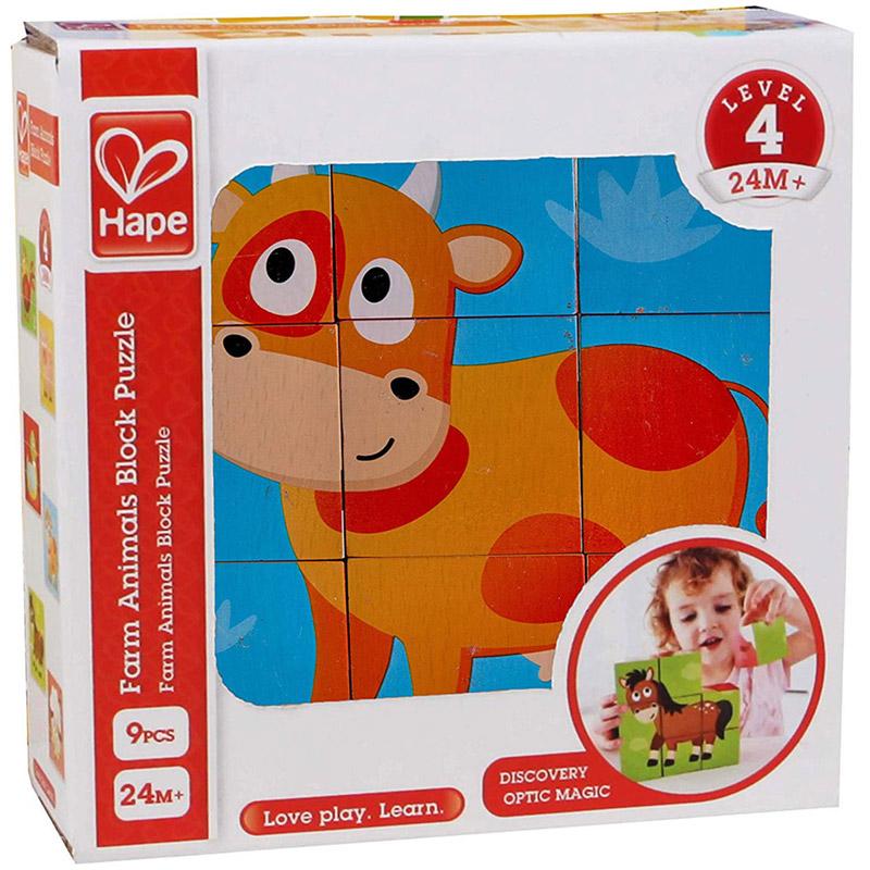 Hape - Cubes-puzzle FARM ANIMAL Hape