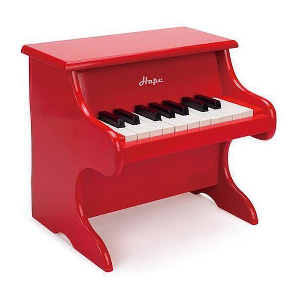 Hape - Jouet piano rouge bois hape