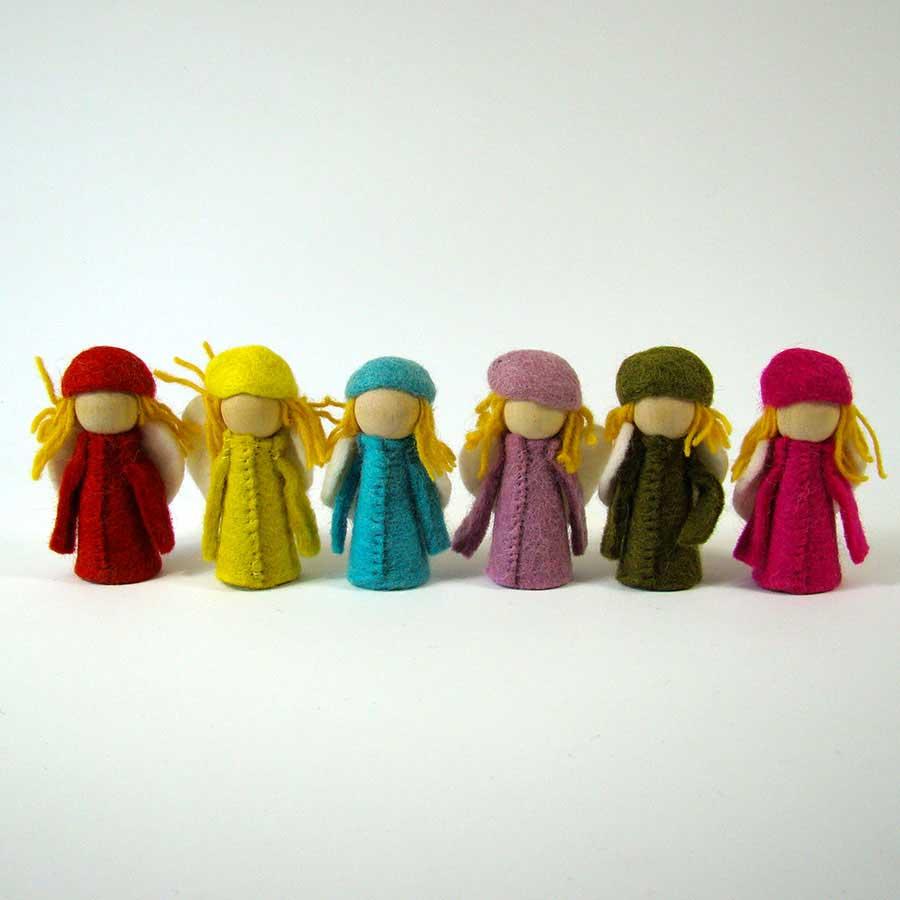 PAPOOSE TOYS - Petits Elfes en laine feutrée - set de 6