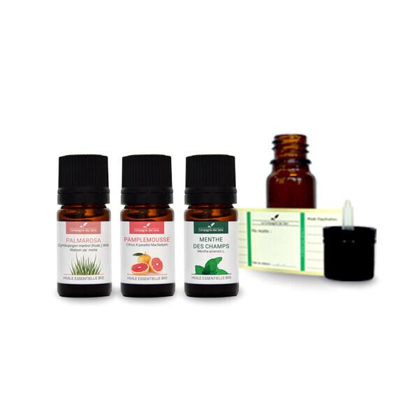 Compagnie des Sens - Ambiance fraîcheur - Pack d'huiles essentielles BIO -
