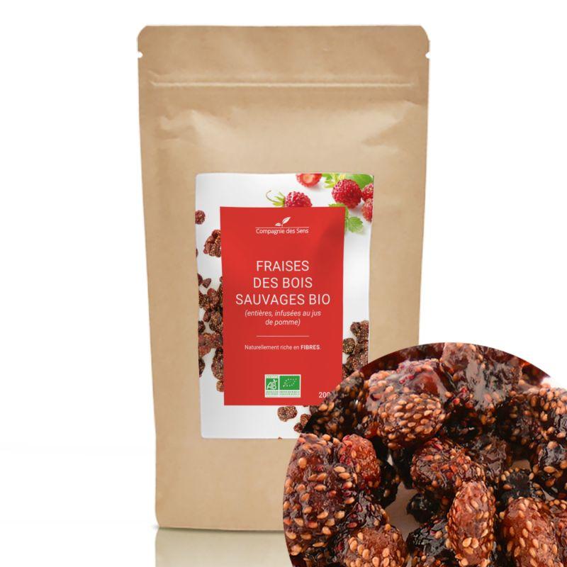 Compagnie des Sens - Fraises des bois sauvages BIO - Fruits séchés en vrac - 200g