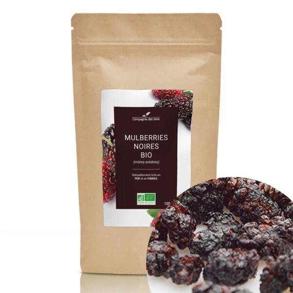 Compagnie des Sens - Mulberries (Mûres Noires) BIO - Fruits séchés en vrac - 150g