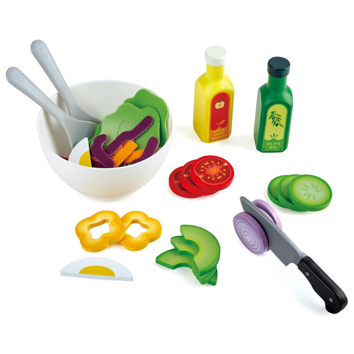 Hape - Jeu imitation plateau de salade Hape