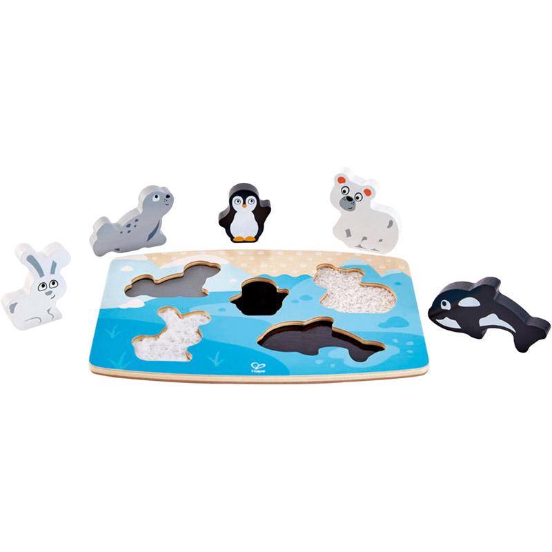 Hape - Puzzle à textures animaux polaires hape
