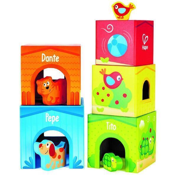 Hape - Cubes bébé puppy et ses amis hape