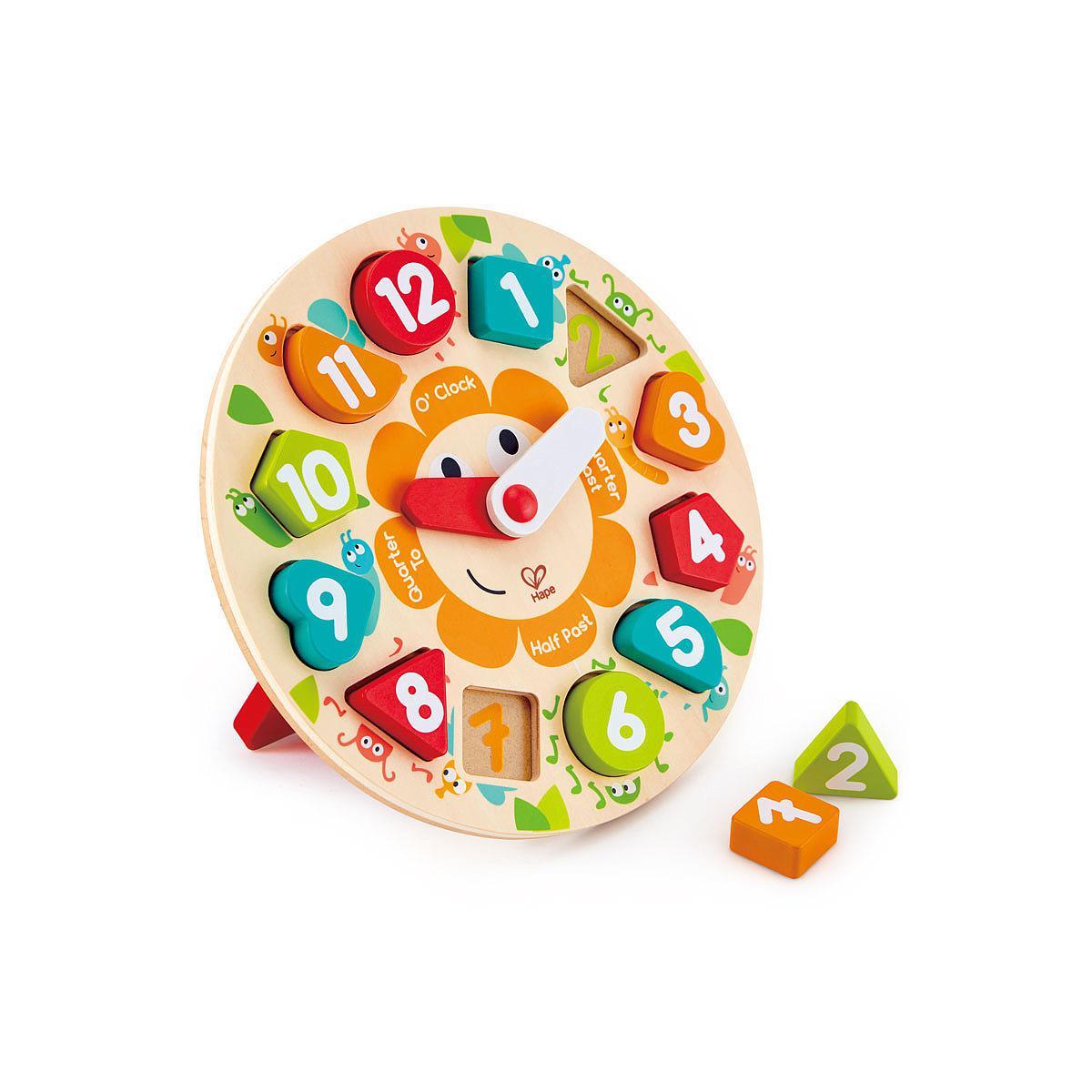 Hape - Puzzle horloge enfant hape