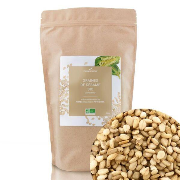Compagnie des Sens - Graines de Sésame complètes BIO - Graines en vrac - 1kg
