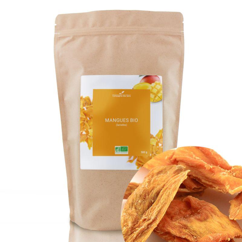 Compagnie des Sens - Mangues en lamelles BIO - Fruits séchés en vrac - 500g