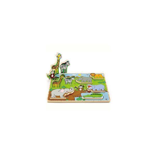 Hape - Puzzle vertical en bois WILD ANIMALS Hape