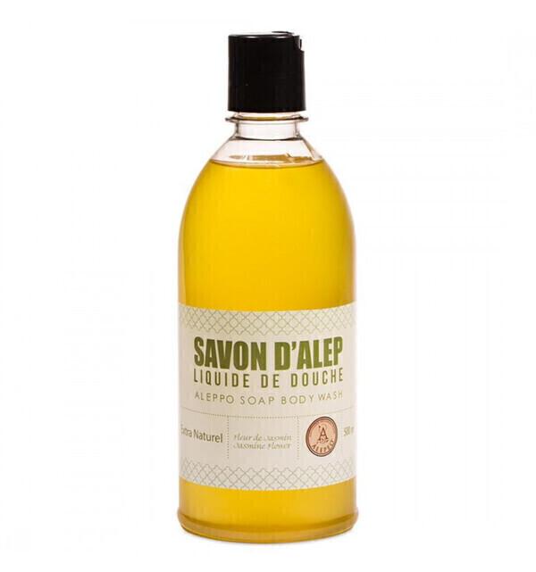 Alepeo - Gel douche naturel 500ml au savon d'Alep parfum Jasmin - Alepeo