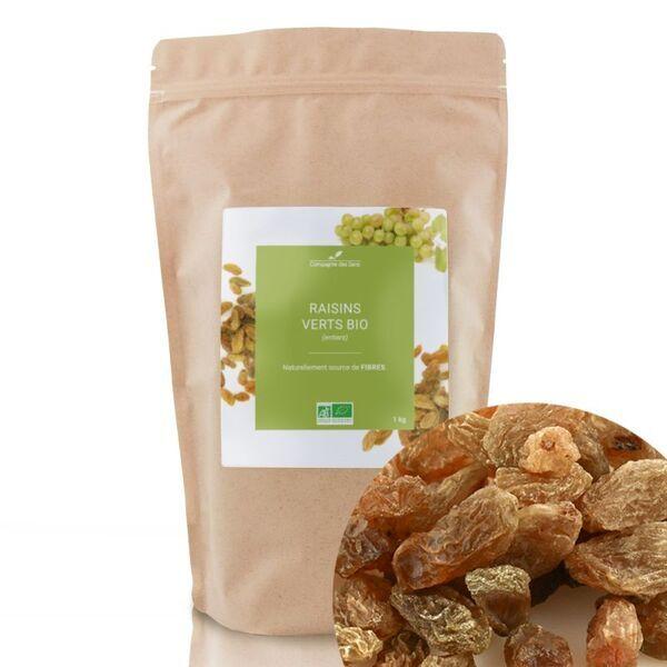 Compagnie des Sens - Raisins Verts BIO - Fruits séchés en vrac - 1kg