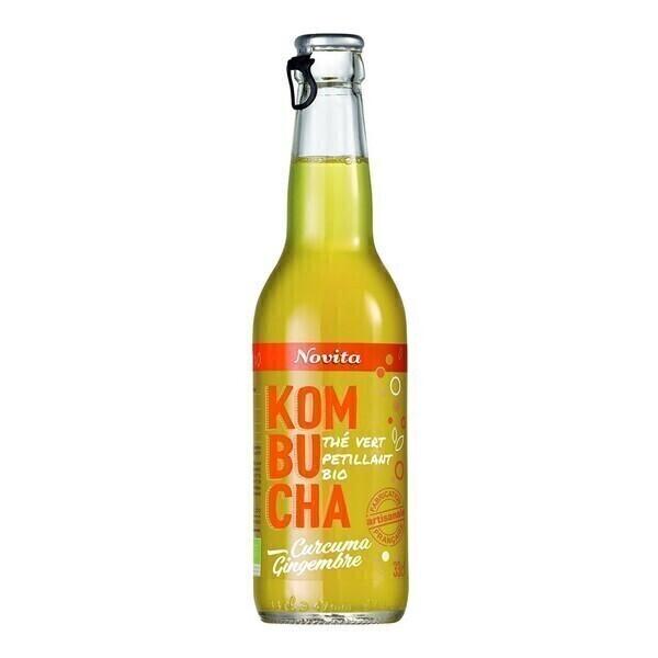 Novita - Kombucha curcuma-gingembre 33cl Bio